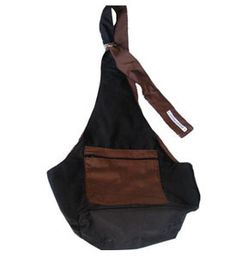 Dog Sling Simple Beauty Black With Brown