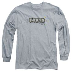 FARTS CANDY/FINGER LOGO-L/S ADULT 18/1-ATHLETIC HEATHER