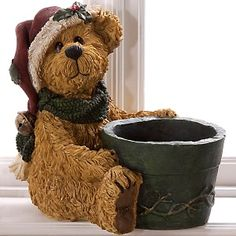 Boyds Bear// a great item for a Christmas tree or other Christmas plants