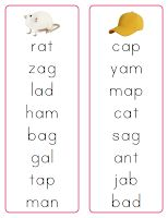 Montessori Pink Reading Series Word Lists (and her other pink series free printables)