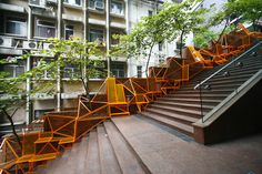 The Cascade- Created by Edge Design Institute, in Central Hong Kong was transformed from a public staircase into a communal seating area with gardening features, giving extra meaning to a neglected and overlooked, urban space.