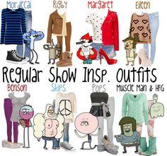 cartoon inspired outfit collage - Google zoeken