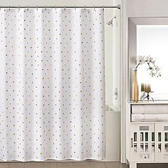 image of Sophia Shower Curtain in Gold/White