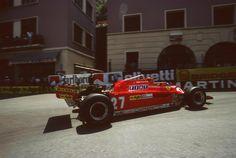 Gilles Villeneuve (Scuderia Ferrari), Ferrari 126CK - Ferrari Tipo 021 1.5 V6, 1981 Monaco Grand Prix