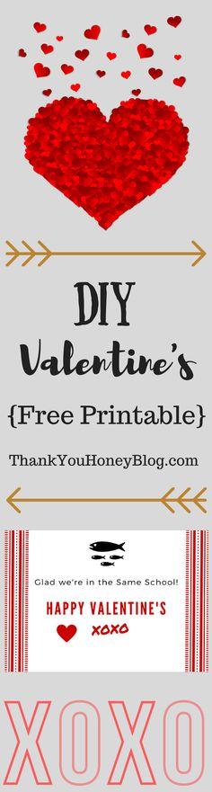DIY Valentine's {Free Printables},Valentine's Day, Adorable Homemade Valentines, Last Minute Valentines, DIY Valentines, Craft, DIY, Homemade, Last Minute, Valentines, Kids, Kids Valentines