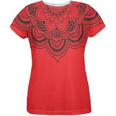 Mandala Flower All Over Womens T-Shirt