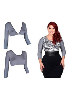 Sleevey Wonders Women S Gray Jersey Reversible Slip On Sleeves To View Further For This Item Visit The Image Link