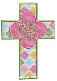 Cross 4 Applique Design