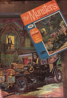 Vintage 1965 Whitman THE MUNSTERS JIGSAW PUZZLE Kayro-Vue Hot Rod with Box #4634  | eBay