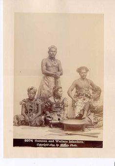 Samoan and Wallace Islanders. Samoan Men, Samoan People, Hawaiian Clothes, Polynesian Culture, My Heritage, Moana, Countries Of The World, Historical Photos, Southeast Asia