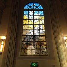 Glass Print | Glasdecoratie.  Van Gogh Experience, Van Gogh Kerk, Etten -Leur. Glas in lood.