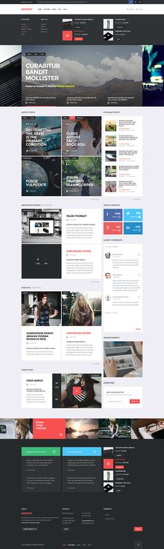 REPRINT - Magazine Template #template #website #web #webdesign