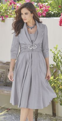 Elegant Jacket Dress. So pretty and love the color
