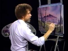 Bob Ross- Malerei nebligen Hügeln - Malerei Video