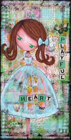 """""""Playful Heart"""" 10X20"""