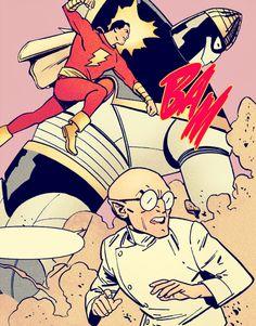 ϟ and his foes in. Original Captain Marvel, Captain Marvel Shazam, Marvel Dc, 90s Nostalgia, Magic Words, Detective Comics, Dc Heroes, Dc Universe, Justice League