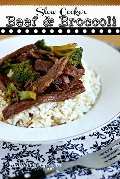 #Slow Cooker Beef and Broccoli - There is nothing better than walking in the door to the smell of a yummy dinner waiting for you. The beef from this recipe is so moist and flavorful, you are going to LOVE it!