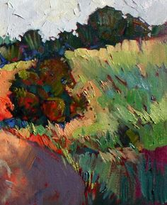 by Erin Hanson-Open-Impressionism catches the attention at once as being a new style of painting. The colors are vibrant, pre-mixed, and un-mudded. The thi...