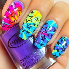 Some of my very most FAQs have to do with my nails! At any time I get my nails done I get tons and also lots of DMs regarding it. What did you do for you nails? Funky Nails, Neon Nails, Love Nails, Diy Nails, Star Nails, Colorful Nails, Sparkly Nails, Fabulous Nails, Perfect Nails