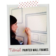 eighteen25: [today's guest] jen from jk jk | hand painted wall frames -- only I'd use vinyl because I'm a wimp... :)
