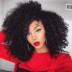 Afro Kinky Curly Lace Front Wigs Density Raw-Remy Human Hair Wigs for Black Women Kinky Curly Full Lace Frontal Wigs with Baby Hair Remy Human Hair, Human Hair Extensions, Human Hair Wigs, Remy Hair, Extensions Shop, Weave Extensions, Afro Wigs, Big Hair, Your Hair