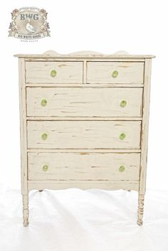 Old white and gold gilding with this dresser.