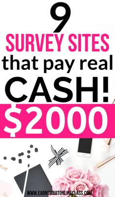 Need legit paid survey sites to earn money from home? Here is a list of 20 of the best paid surveys for 2020. These are survey companies that pay cash and even points. Learn how to take surveys for money today! #surveysformoney #paidsurveys #easyonlinejobs #surveys #earnmoneyfromhome #makemoney #sidehustles Take Surveys For Money, Online Surveys For Money, Survey Sites That Pay, Earn More Money, Earn Money From Home, Way To Make Money, Survey Companies, Make Money Online, Work From Home Careers