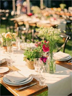 generally like this table style, but in color scheme to match rest of wedding (white + soft colors)