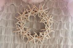 Gorgeous Handmade Starfish Wreath, Coastal Christmas, Beach Chic, Beach Wedding & Nautical Decor Beach Themed Parties and Events. $95.00, via Etsy.