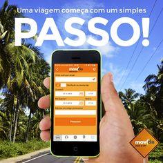 O primeiro passo é muito simples: reservar seu carro no aplicativo da #MovidaRentACar.    Agora é só botar o pé na estrada!