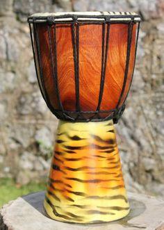 Christmas Gift Ideas: Fairtrade 30cm Animal Drum - Tiger