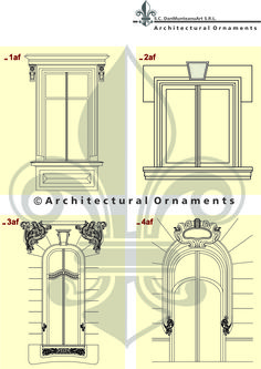 Drawings made by Architectural Ornaments Art And Technology, Historical Architecture, Vectors, Ornaments, Drawings, Furniture, Design, Home Decor, Decoration Home