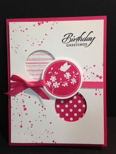 Gorgeous Grunge, Serene Silhouettes, Birthday Card, Stampin' Up!, Rubber Stamping, Handmade Cards