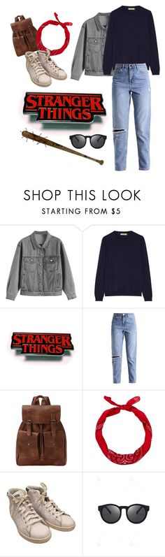 """Stealthy like a ninja -Steve Harrington"" by elsiedries ❤ liked on Polyvore featuring Burberry, New Look and adidas"