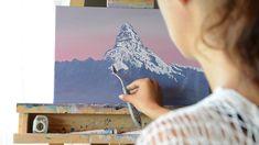 Matterhorn. Zermatt winter sunset. Oil painting timelapse - YouTube Oil Paintings, Original Paintings, Winter Sunset, Zermatt, Process Art, Switzerland, Oil On Canvas, Digital Art, Palette