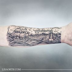 Linework Engraving Etching Woodcut Tattoo by Lisa Orth