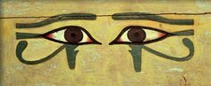 """The wedjat eye is a symbol of the falcon-headed god Horus, who gave the eye to his father Osiris (who ate it) and by doing so brought him back to life. The symbol may be translated as """"the whole or restored one."""""""