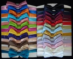 Bow ties in every color imaginable for your boys