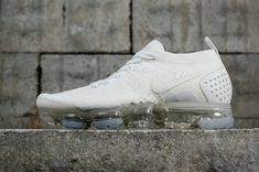 c6f1f6989a 2018 Nike Air Vapormax Flyknit 2 All White 942842-100 Authentic Nike Air  VaporMax Shoes