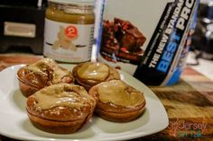 High Protein Chocolate Brownie Fluff Butter Cupcakes Recipe using BPI Whey Protein powder and D's Natural Vanilla Maple Fluffbutter for a yummy treat!