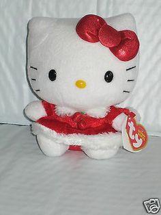 23c6a0771fa 2013 TY Christmas Holiday HELLO KITTY Red Dress Plush Beanie Baby NWT HK   15.
