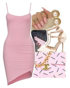 A fashion look from January 2016 featuring pink dress, white stilettos and Chanel. Browse and shop related looks. Sexy Outfits, Classy Outfits, Outfits For Teens, Chic Outfits, Trendy Outfits, Summer Outfits, Girl Outfits, Fashion Outfits, Womens Fashion