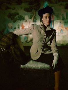 vintage everyday: Extraordinary Color Fashion Photography Taken During the by John Rawlings Elsa Schiaparelli, 1940s Fashion, Vintage Fashion, Vintage Beauty, Marie Claire, Portrait Photography, Fashion Photography, Mode Chic, 1940s Dresses