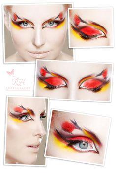 colourful fashion beauty makeup for beauty magazine
