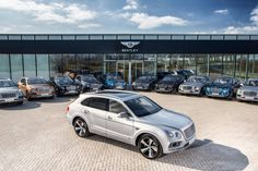 """Kevin Rose, Member of the Board for Sales, Marketing and Aftersales commented, """"This is an historic day for Bentley and it is a great testament to all the work which has gone in to producing Bentayga, the fastest and most luxurious SUV in the world. The customers joining us for the event have followed the Bentayga journey since we proposed the idea of a Bentley SUV, and were among the very first in the world to put their names down on the order book for First Edition cars – many before they…"""
