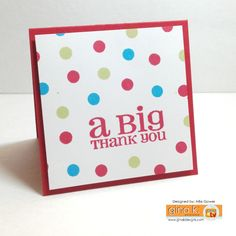 Big polka dotted thank you supply list cardstock cherry red