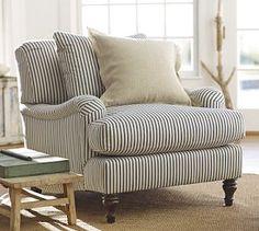 Carlisle Upholstered Armchair #Pottery Barn