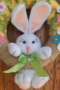 Toilet Paper Roll Crafts, Craft Stick Crafts, Felt Crafts, Burlap Flower Wreaths, Easter Wreaths, Holiday Crochet, Easter Crochet, Bunny Crafts, Easter Crafts For Kids
