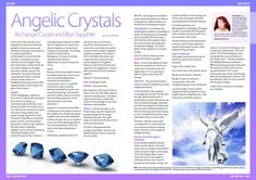 Article on Archangel Cassiel and Blue Sapphire