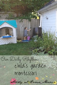 How to Create a Daily Rhythm that incorporates the Montessori Method, Reggio, Waldorf, and High Scope philosophies; a great preschool schedule or routine